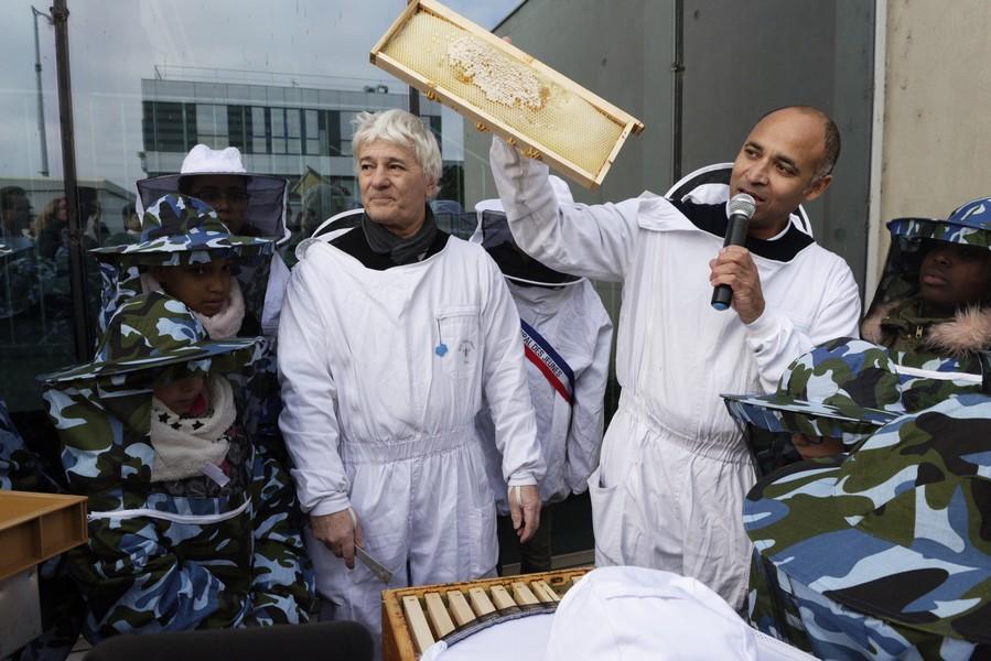 Inauguration des ruches
